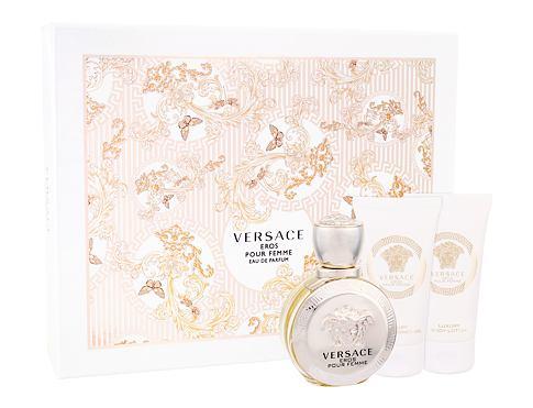 Versace Eros Pour Femme EDP dárková sada pro ženy - EDP 50 ml + tělové mléko 50 ml + sprchový gel 50 ml