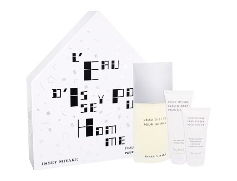 Issey Miyake L´Eau D´Issey Pour Homme EDT dárková sada pro muže - EDT 125 ml + sprchový gel 75 ml + balzám po holení 50 ml