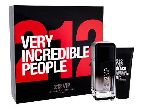 Carolina Herrera 212 VIP Men Black EDP dárková sada pro muže - EDP 100 ml + sprchový gel 100 ml