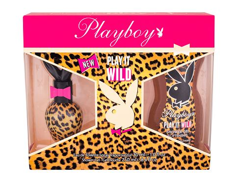 Playboy Play It Wild For Her EDT dárková sada pro ženy - EDT 30 ml + sprchový gel 250 ml