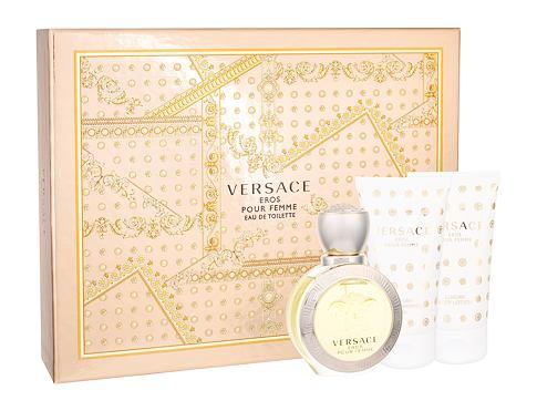 Versace Eros Pour Femme EDT dárková sada pro ženy - EDT 50 ml + tělové mléko 50 ml + sprchový gel 50 ml