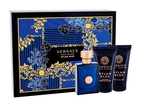 Versace Pour Homme Dylan Blue EDT dárková sada pro muže - EDT 50 ml + sprchový gel 50 ml + balzám po holení 50 ml