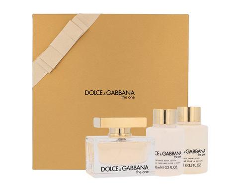 Dolce&Gabbana The One EDP dárková sada Poškozená krabička pro ženy - EDP 75 ml + tělové mléko 100 ml + sprchový gel 100 ml