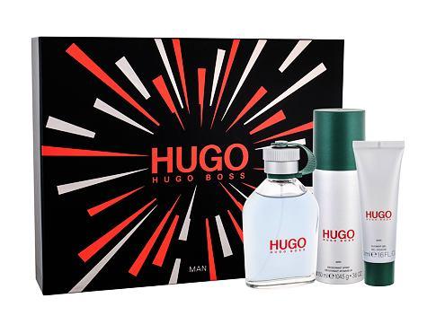 HUGO BOSS Hugo Man EDT dárková sada pro muže - EDT 125 ml + deodorant 150 ml + sprchový gel 50 ml