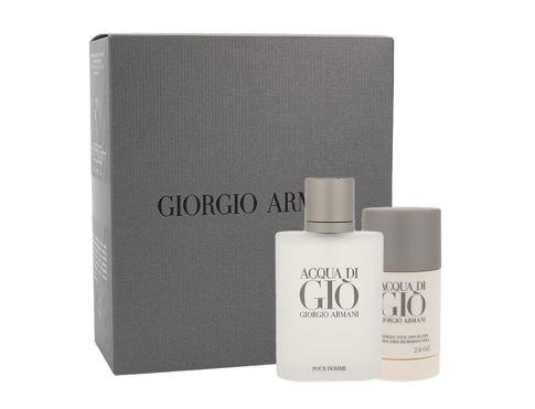 Giorgio Armani Acqua di Gio Pour Homme EDT dárková sada pro muže - EDT 100 ml + deostick 75 ml