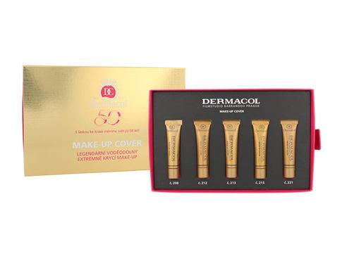 Dermacol Make-Up Cover SPF30 25 ml makeup dárková sada pro ženy - makeup 5x 5 ml