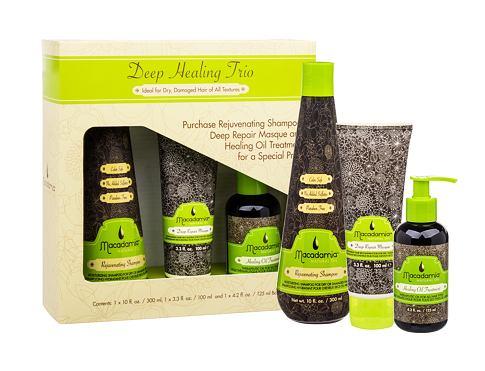 Macadamia Professional Rejuvenating šampon dárková sada pro ženy - šampon Rejuvenating Shampoo 300 ml + maska na vlasy Deep Repair Masque 100 ml + olej na vlasy Healing Oil Treatment 125 ml