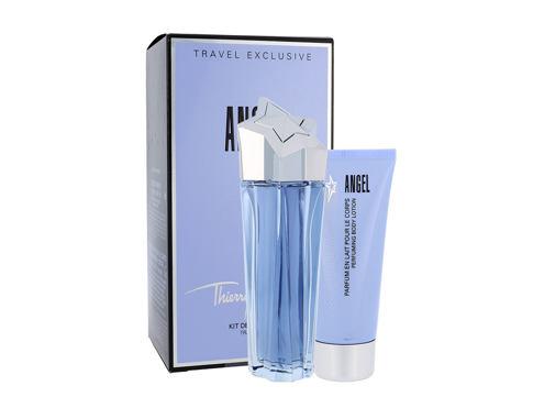 Thierry Mugler Angel EDP dárková sada Poškozená krabička Naplnitelný pro ženy - EDP 100 ml + tělové mléko 100 ml