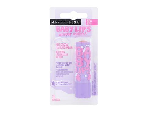 Maybelline Baby Lips Winter Delight 4,4 g balzám na rty 11 Hot Cocoa pro ženy
