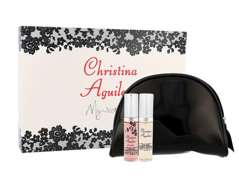 Christina Aguilera Mini Set EDP dárková sada pro ženy - edp Christina Aguilera 10 ml + edp Christina Aguilera By Night 10 ml + kosmetická taška