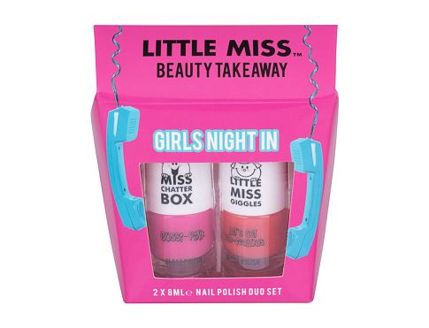 Little Miss Little Miss Beauty Takeaway lak na nehty dárková sada Gossi-Pink unisex - lak na nehty 8 ml + lak na nehty 8 ml Let´s Get Red-iculous