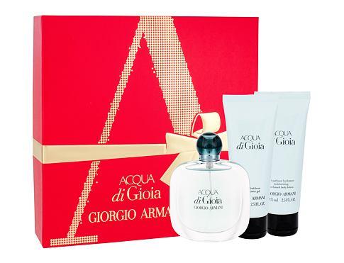 Giorgio Armani Acqua di Gioia EDP dárková sada pro ženy - EDP 50 ml + tělové mléko 75 ml + sprchový gel 75 ml