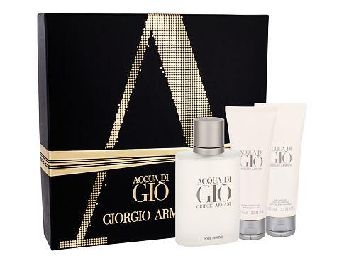 Giorgio Armani Acqua di Gio Pour Homme EDT dárková sada pro muže - EDT 100 ml + balzám po holení 75 ml + sprchový gel 75 ml