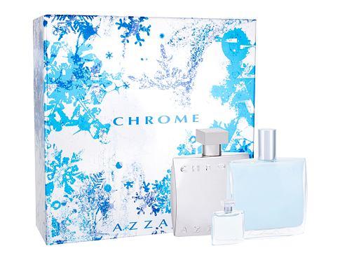 Azzaro Chrome EDT dárková sada pro muže - EDT 100 ml + balzám po holení 100 ml + EDT 7 ml