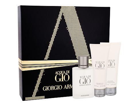 Giorgio Armani Acqua di Gio Pour Homme EDT dárková sada pro muže - EDT 50 ml + balzám po holení 75 ml + sprchový gel 75 ml