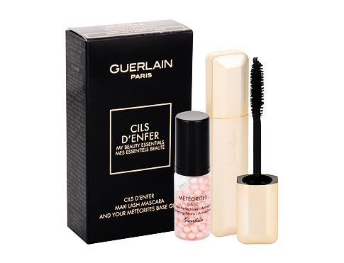 Guerlain Maxi Lash řasenka dárková sada 01 Black pro ženy - řasenka Maxi Lash 8,5 ml + podklad pod make-up Météorites Base 5 ml