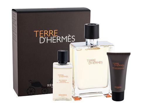 Hermes Terre D´Hermes EDT dárková sada Poškozená krabička pro muže - EDT 100 ml + sprchový gel 40 ml + balzám po holení 15 ml