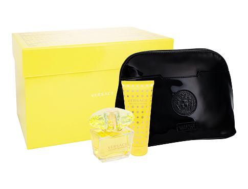 Versace Yellow Diamond EDT dárková sada pro ženy - toaletní vodda 90 ml + tělové mléko 100 ml + kosmetická taška