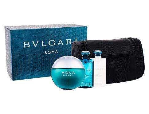 Bvlgari Aqva Pour Homme EDT dárková sada pro muže - EDT 100 ml + sprchový gel 75 ml + balzám po holení 75 ml + kosmetická taška