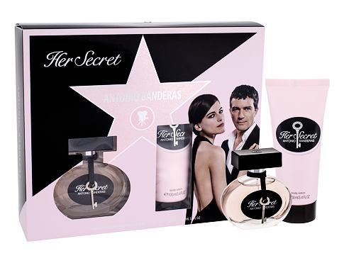 Antonio Banderas Her Secret EDT dárková sada pro ženy - EDT 50 ml + tělové mléko 100 ml