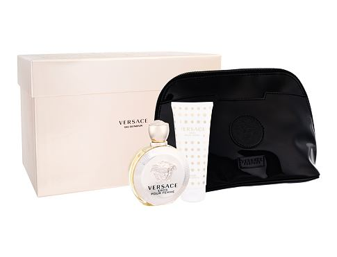 Versace Eros Pour Femme EDP dárková sada pro ženy - EDP 100 ml + tělové mléko 100 ml + kosmetická taška
