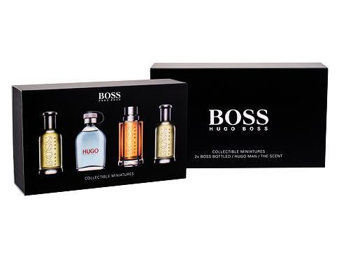 HUGO BOSS Mini Set 1 EDT dárková sada pro muže - EDT Boss Bottled 2x 5 ml + EDT Hugo Man 5 ml + EDT The Scent 5 ml