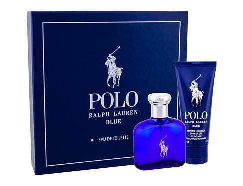 Ralph Lauren Polo Blue EDT dárková sada pro muže - EDT 75 ml + sprchový gel 100 ml