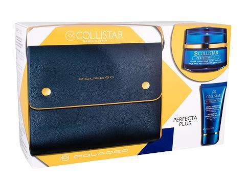 Collistar Perfecta Plus Face And Neck Perfection denní pleťový krém dárková sada pro ženy - pleťová péče pro obličej a krk 50 ml + pleťová maska 20 ml + kabelka