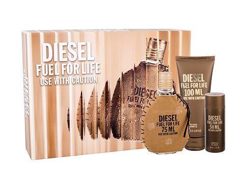 Diesel Fuel For Life Homme EDT dárková sada pro muže - EDT 75 ml + sprchový gel 100 ml
