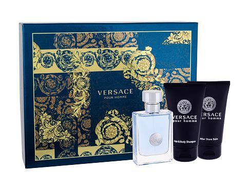 Versace Pour Homme EDT dárková sada pro muže - EDT 50 ml + sprchový gel 50 ml + balzám po holení 50 ml
