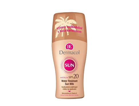 Dermacol Sun Milk Spray SPF20 200 ml opalovací přípravek na tělo voděodolná pro ženy