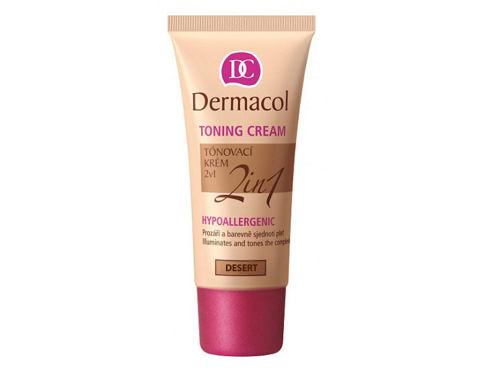 Dermacol Toning Cream 2in1 30 ml bb krém Desert pro ženy