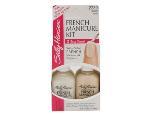 Lak na nehty Sally Hansen Hard As Nails French Manicure Kit 2x13,3 ml 2289 Nearly Nude