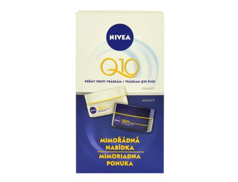 Nivea Q10 Plus denní pleťový krém dárková sada pro ženy - denní pleťový krém 50 ml + noční pleťový krém 50 ml