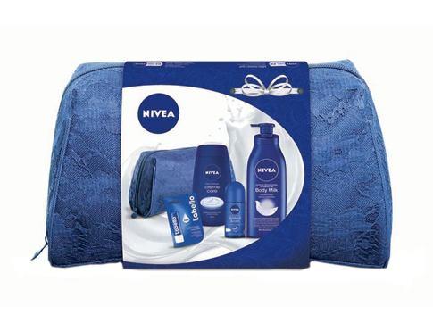Nivea Body Milk tělové mléko dárková sada pro ženy - tělové mléko 400 ml + sprchový krém