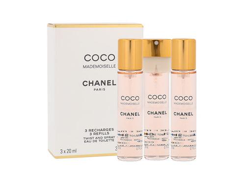Chanel Coco Mademoiselle 3x 20 ml 20 ml EDT Náplň pro ženy