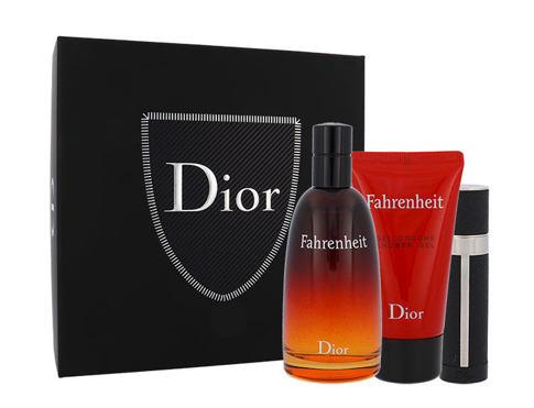 Christian Dior Fahrenheit EDT dárková sada pro muže - EDT 100 ml + sprchový gel 50 ml + EDT 3 ml
