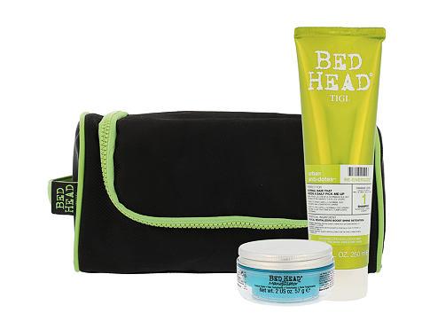 Tigi Bed Head Re-Energize šampon dárková sada pro ženy - šampon Re-Energize 250 ml + modelační krém na vlasy Bed Head Manipulator Texturizer 57 ml + taštička