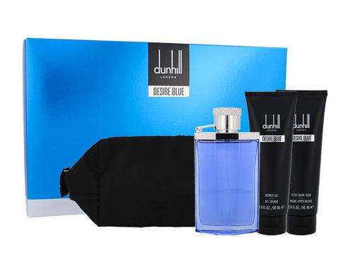 Dunhill Desire Blue EDT dárková sada pro muže - EDT 100 ml + sprchový gel 90 ml + balzám po holení 90 ml + kosmetická taška