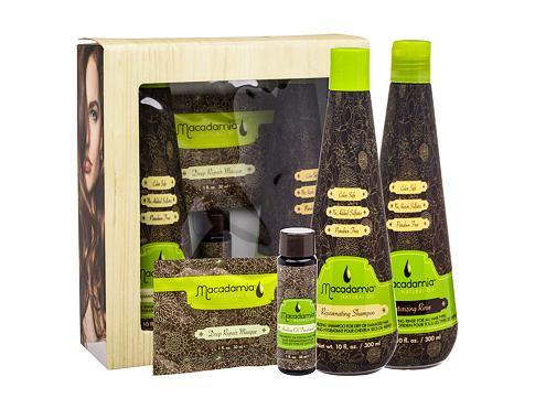 Macadamia Professional Rejuvenating šampon dárková sada pro ženy - šampon Rejuvenating Shampoo 300 ml + maska Deep Repair Masque 30 ml + olej Healing Oil Treatment 30 ml + kondicionér Moisturizing Rinse 300 ml