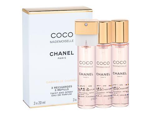 Chanel Coco Mademoiselle 3x 20 ml 20 ml EDP Náplň pro ženy