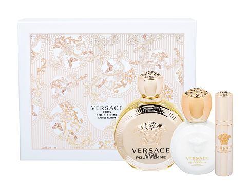 Versace Eros Pour Femme EDP dárková sada pro ženy - EDP 100 ml + tělové mléko 100 ml + EDP 10 ml