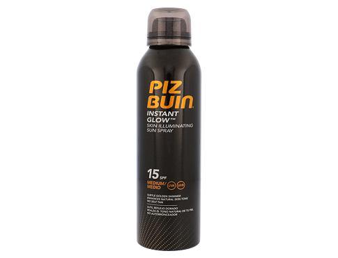 PIZ BUIN Instant Glow Spray SPF15 150 ml opalovací přípravek na tělo voděodolná pro ženy