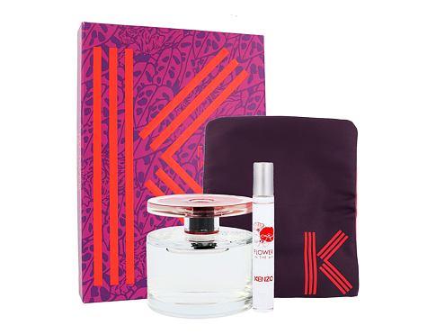 KENZO Flower In The Air EDP dárková sada Poškozená krabička pro ženy - EDP 100 ml + parfemovaná voda 7,5 ml + kosmetická taška
