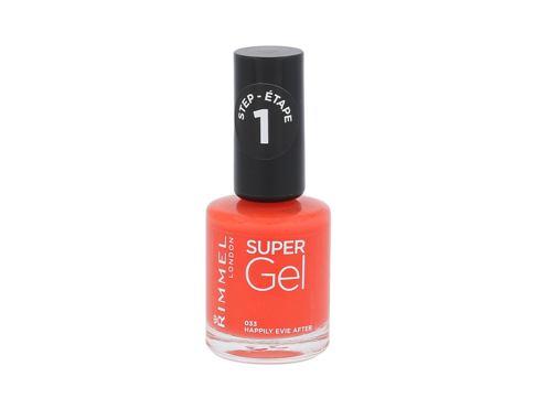 Rimmel London Super Gel STEP1 12 ml lak na nehty 033 Happily Evie After pro ženy
