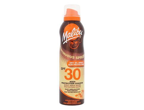 Malibu Continuous Spray Dry Oil SPF30 175 ml opalovací přípravek na tělo voděodolná pro ženy