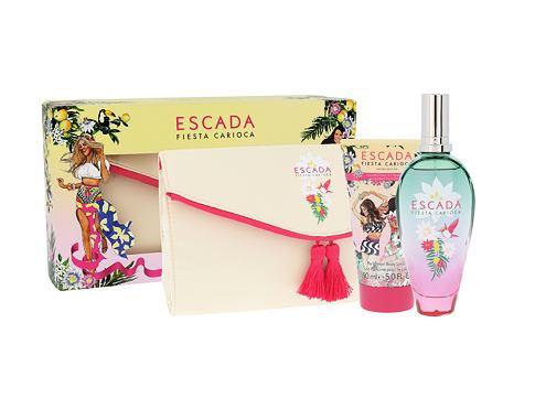 ESCADA Fiesta Carioca EDT dárková sada pro ženy - EDT 100 ml + tělové mléko 150 ml + kosmetická taška