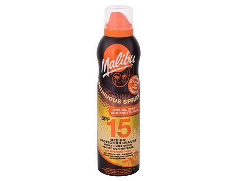 Malibu Continuous Spray Dry Oil SPF15 175 opalovací přípravek na tělo pro ženy