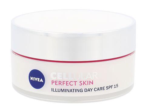 Nivea Cellular Perfect Skin Illuminating Day Cream SPF15 50 ml denní pleťový krém pro ženy