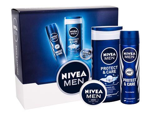 Nivea Men Protect & Care sprchový gel dárková sada pro muže - sprchový gel 250 ml + anti-perspirant 150 ml+ univerzální krém Men Creme 30 ml